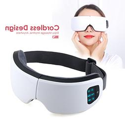 SELENECHEN Eye Massager Eye Mask with Heating and Air Pressu