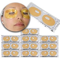 Set Kit of 10 Pairs 24 K Gold Golden Collagen Gel Crystal Ma