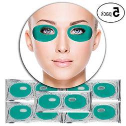 Set Kit of 5 Pairs Green Aloe Vera Collagen Gel Crystal Mask