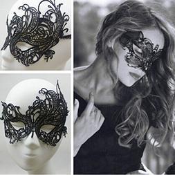 1 X Sexy Beautiful Women Lady Black Lace Floral Eye Mask Ven