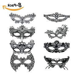 Sexy Masquerade Mask For Women Black Lace Venetian Style Mas