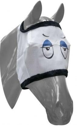 Showman SMALL SIZE Sleepy Eye Design Horse Fly Mask Mesh wit
