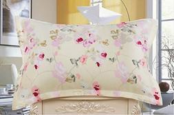 Maxfeel 1 Pc Silk Pillowcase One Side Multiple Colors Printe