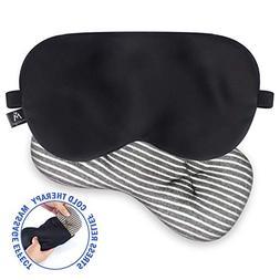 Mavogel Silk Sleep Eye Mask - Removeable Soothing Eye Pillow