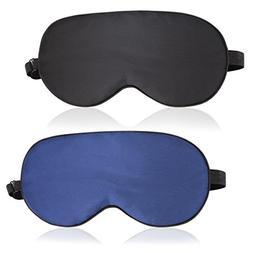 Sleep Mask, ZGGCD Silk Sleep Mask Eye Mask for Sleeping 2 Pa