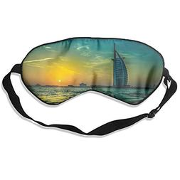 100% Silk Sleep Mask Eye Mask Sunset Burj Al Arab Soft Eyesh