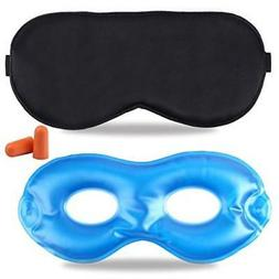 Fitglam Pure Silk Sleep Mask + Reusable Cold / Hot Therapy S
