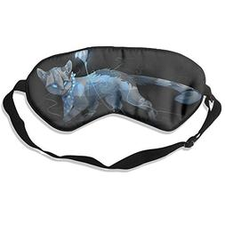 Silk Sleeping Mask Eye Cats Lovely Animals Grumpy Lightweigh