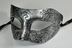 Silver Antique Greek Roman Warrior Men Venetian Mardi Gras P