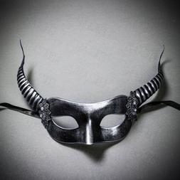 SILVER Sexy Women's Devil Horns Eye Mask Costume for Hallowe