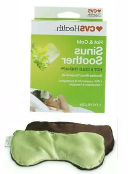 CVS Health Sinus Soother Hot & Cold Therapy Eye Pillow Peppe