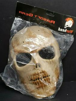 War Head Skull Skeleton Airsoft Gear Protective Mask Wire Me