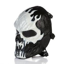 Skull Skeleton Full Face Eye Mask Tactical Paintball Protect