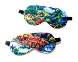 Sleep Eye Mask Dinosaur Blindfold Night Shade Face Boy Kid T