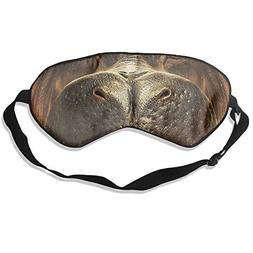 WUGOU Sleep Eye Mask Funny Hippo Mount Lightweight Soft Blin