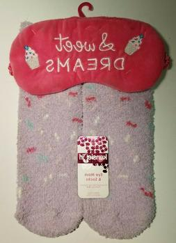 KensieGirl Sleep Eye Mask Fuzzy Socks Set Kensie Girl Soft S