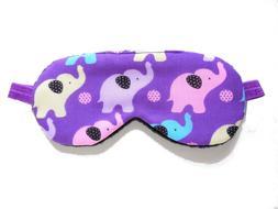 Sleep Eye Mask Girl Purple Elephant Blindfold Night Travel S