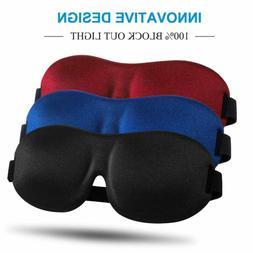 Sleep Mask 3 Pack, Upgraded 3D Contoured 100% Blackout Eye M
