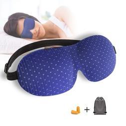 Sleep Mask, 3D Contoured Sleep Eye Mask, Comfortable  Super