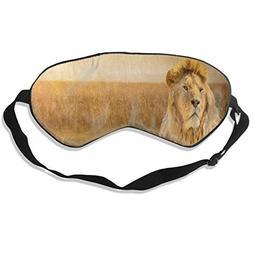 Sleep Mask Brave Lion African Grass Eye Mask Cover with Adju