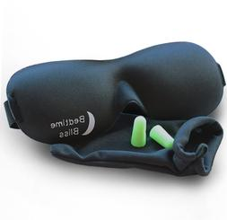 Sleep Mask by Bedtime Bliss - Contoured & Comfortable With M