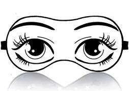 JessPad Sleep Mask Cartoon Cute Girl Eyes Cotton Night Eye M