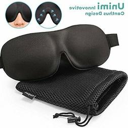 Unimi Sleep Mask for Woman and Man, Upgraded Contoured 3D Ey