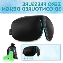 Sleep Mask for Woman Man Upgraded Contoured 3D Eye Mask Eye