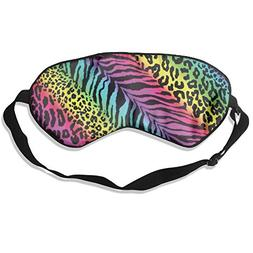 WGNNVOT Sleep Mask Pack Training Rainbow Animal Zebra Men An