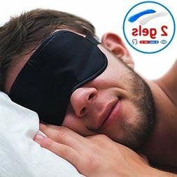 Sleeping Eye Mask with Gel - New 2018 Natural Soft Eye Cover