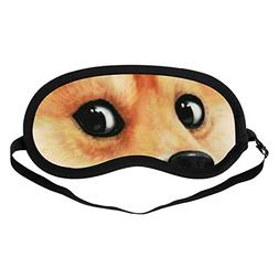 Sleeping Mask, Dog Sleep Blindfold, Pure Cotton Eye Mask wit