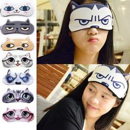 Soft 3D Eye Aid Mask Sleep Eye Shade Cover Shade Blindfold U