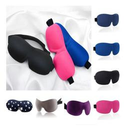 Soft Padded Blindfold 3D Eye Mask Rest Sleep Aid Shade Cover