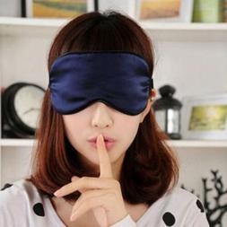 Soft Pure Sleep Rest Eye Mask Padded Shade Cover Travel Rela