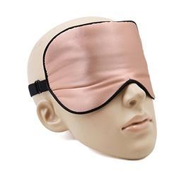 uxcell Soft Silk Travel Eye Mask Rest Relax Eyes Pad Sleep S