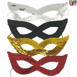 Sparkle Bling Sequin Eye Mask Costume Cat Eyemask Halloween