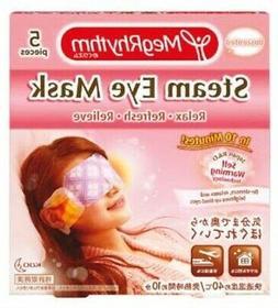 MEG RHYTHM Steam Eye Mask Unscented 5's-De-stresses, Relaxes