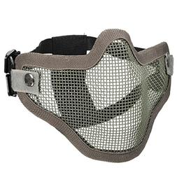 Tactical Security Protect Hunting Metal Wire Half Face Mask