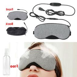 Temperature Control Heat Steam Cotton Eye Mask Dry Tired Com