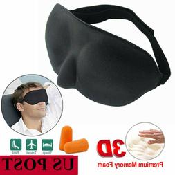 Top Comfortable Travel 3D Eye Mask Soft Padded Shade Cover R