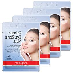 4 Pack Total 120 Purederm Collagen Eye Zone Pad Patches Mask