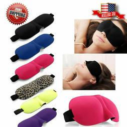 Travel 3D Eye Mask Sleep Soft Padded Shade Cover Rest Relax