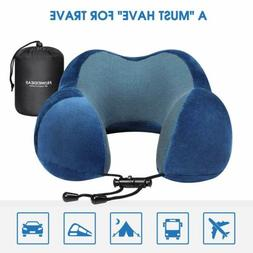 Travel Pillow Memory Foam Neck Pillow Head Rest Cushion With