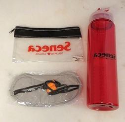 Travel Sleep Aid Combo Eye Mask Ear Plugs Carry Bag Water Bo