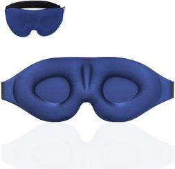 Travel Sleep Eye Mask 3D Memory Foam Padded Concave Molded A