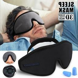 Travel Sleep Eye Mask 3D Memory Foam Padded Shade Sleeping B