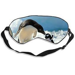 Traveling Penguin Sleep Mask Mulberry Silk Eye Masks Blinder