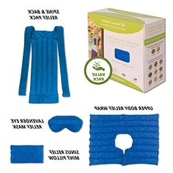 Ultimate Set- Herbal Heating Pad for Neck, Shoulder, Back, S