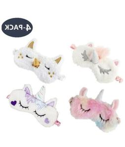 Unicorn Sleeping Eye Mask Cute Girls Women Soft Plush Silk,