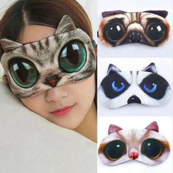 Unisex Eye Mask Soft Sleep Travel Shade Cover Rest Relax Sle